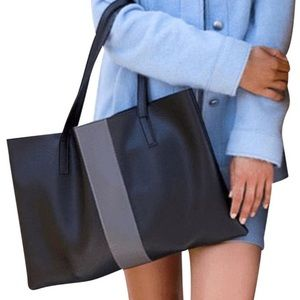 Vince Camuto Vegan Pebble Leather Tote